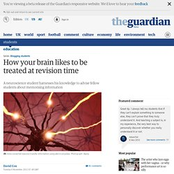 How your brain likes to be treated at revision time