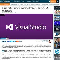 Visual Studio : une révision des extensions, une version Mac en approche