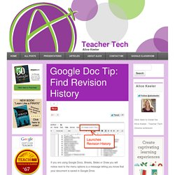 Google Doc Tip: Find Revision History