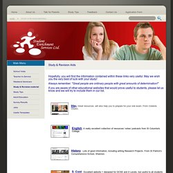 Study & Revision material - Student Enrichment Services Ltd.