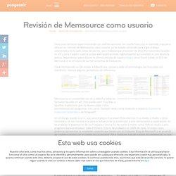 Revisión de Memsource como usuario