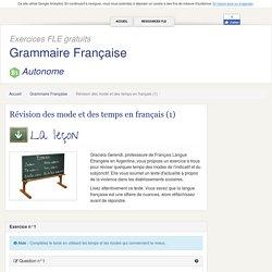 Révision des mode et des temps en français (1)