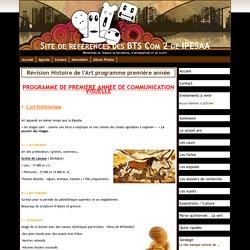 Révision Histoire de l'Art programme première année - Site de références des BTS Com 2 de IPESAA