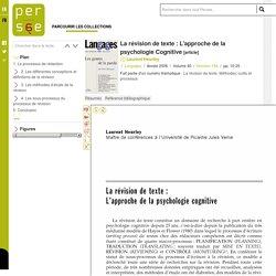 La révision de texte : L'approche de la psychologie Cognitive