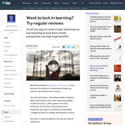 Want to lock in learning? Try regular reviews