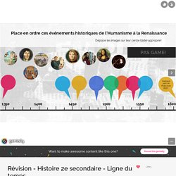 Révision - Histoire 2e secondaire - Ligne du temps by veronique.payeur on Genially