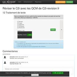QCM de révision du C2i sur le theme Traitement de texte
