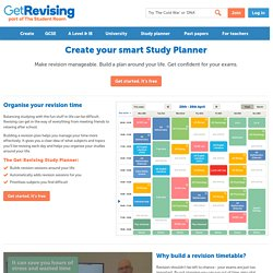 Revision Timetable Maker / Study Planner - Get Revising