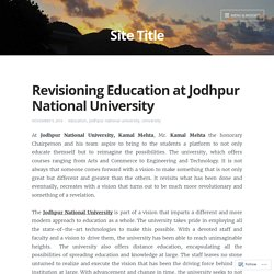 Revisioning Education at Jodhpur National University – Site Title