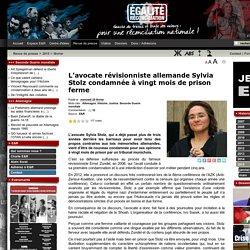 L'avocate révisionniste allemande Sylvia Stolz condamnée à vingt mois de prison ferme