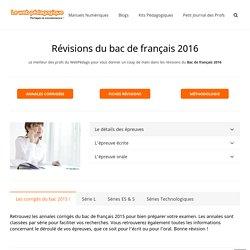 Web pédagogique - Bac 2016 sujets corrigés et fiches de révision