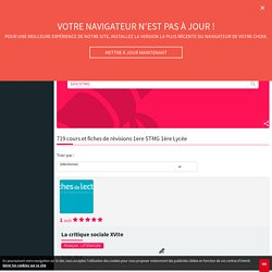 Cours et révisions Lycée 1ère 1ere STMG : fiches gratuites - L'Etudiant