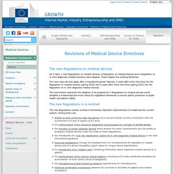 Revisions of Medical Device Directives