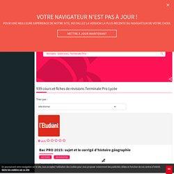 Cours et révisions Lycée Terminale Pro : fiches gratuites - L'Etudiant