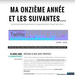 réviser révisions bac twitter twittclasses réseaux sociaux Laurence Juin