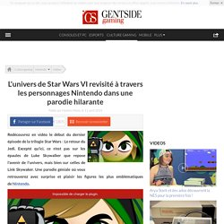L'univers de Star Wars VI revisité à travers les personnages Nintendo dans une parodie hilarante