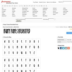 Runy Tunes Revisited Font - FontMeme Download