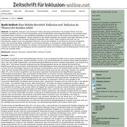 Eine Debatte Revisited: Exklusion und Inklusion als Themen der Sozialen Arbeit