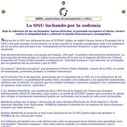 Revista ARBIL, n 18 La ONU luchando por la sodom a