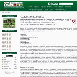 Revista Centro Agrícola - Inicio
