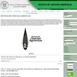 Revista de Ciencias Agrícolas
