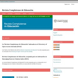 Revista Complutense de Educación (Scopus Q4)
