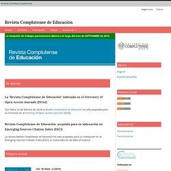 Revista Complutense de Educación (Scopus Q4)