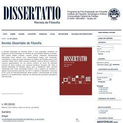 Revista Dissertatio de Filosofia