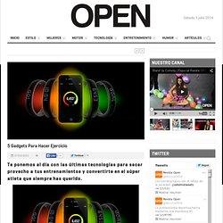Revista Open 5 gadgets para hacer ejercicio