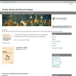 Gerión. Revista de Historia Antigua