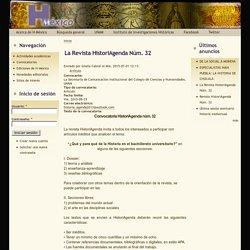 La Revista HistoriAgenda Núm. 32