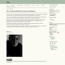 rita_revista indexada de textos académicos