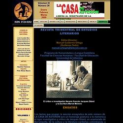 Revista Literaria La Casa de Asterión No. 36 - Volumen IX - Portada