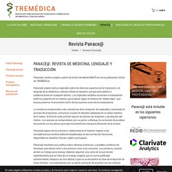 Revista Panace@ - tremedica.org