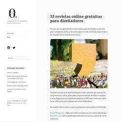 33 revistas online gratuitas para diseñadores