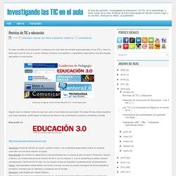 Revistas de TIC y educación