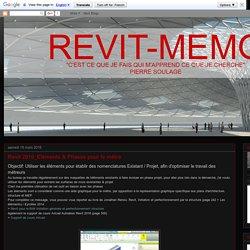 Revit-Mémo: Revit 2016_Eléments & Phases pour le métré
