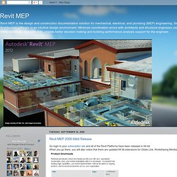 Revit MEP: September 2008