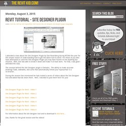 Revit Tutorial - Site Designer Plugin