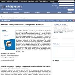 Weblettres publie pour revitaliser l'enseignement du français