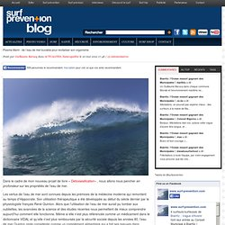 Plasma Marin : de l'eau de mer buvable pour revitaliser son organisme