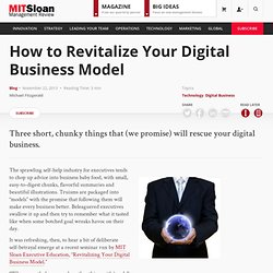 How to Revitalize Your Digital Business Model