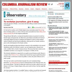 To revitalize journalism, give it away — Citizen Journalism