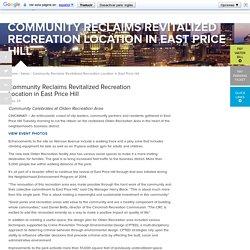 Community Reclaims Revitalized Recreation Location in East Price Hill - City of Cincinnati
