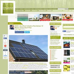 DOE's SunShot Initiative Revitalizes 10 Million Solar Roof Plan