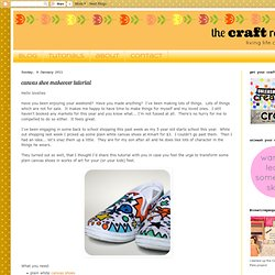 canvas shoe makeover tutorial