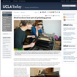 Prof revives lost art of printing press