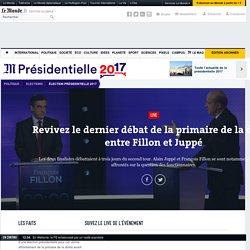 Revivez le dernier débat de la primaire de la droite entre Fillon et Juppé
