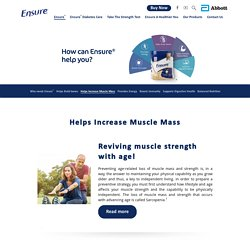 Reviving Muscle Strength With Age - Ensure® India
