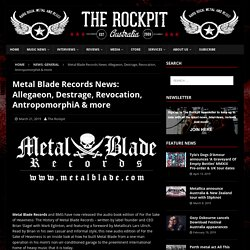 Metal Blade Records News: Allegaeon, Destrage, Revocation, AntropomorphiA & more